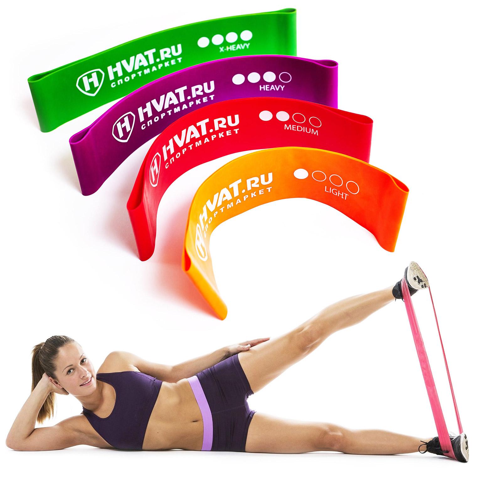Резинки для фитнеса 5 шт. купить в Анопино