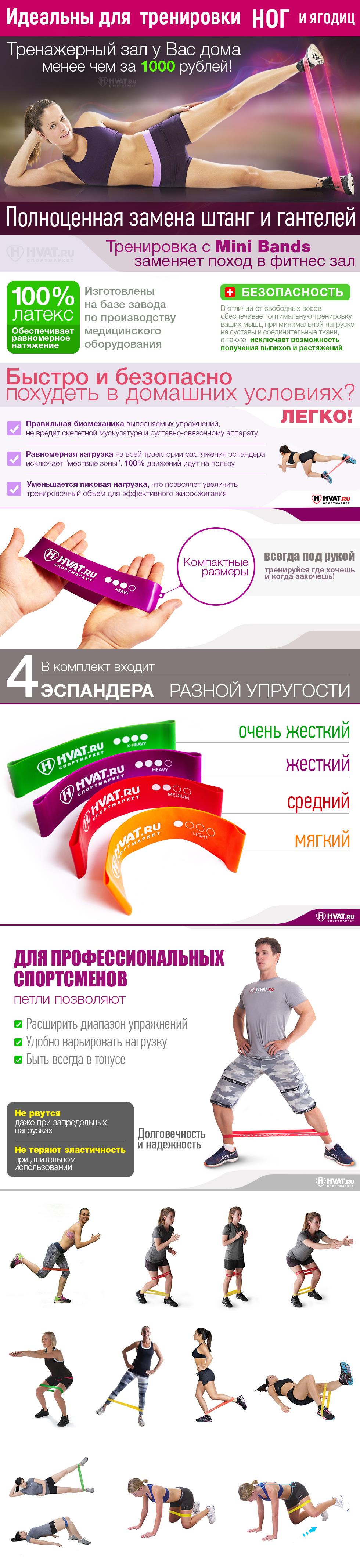 Резинка для фитнеса Mini Bands L купить в Киеве, Днепре