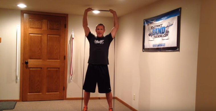 Изображение - Упражнения с резиной для плечевого сустава zhim-zhguta-stoya-foto