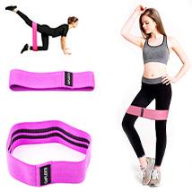 Резинка для фитнеса Hip Bands GoFLEX Pink S