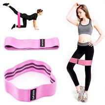 Резинка для фитнеса Hip Bands GoFLEX Pink M
