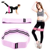 Резинка для фитнеса Hip Bands GoFLEX Pink L